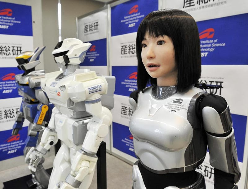 The HRP-4C Model Robot Is Programmed to Work...It