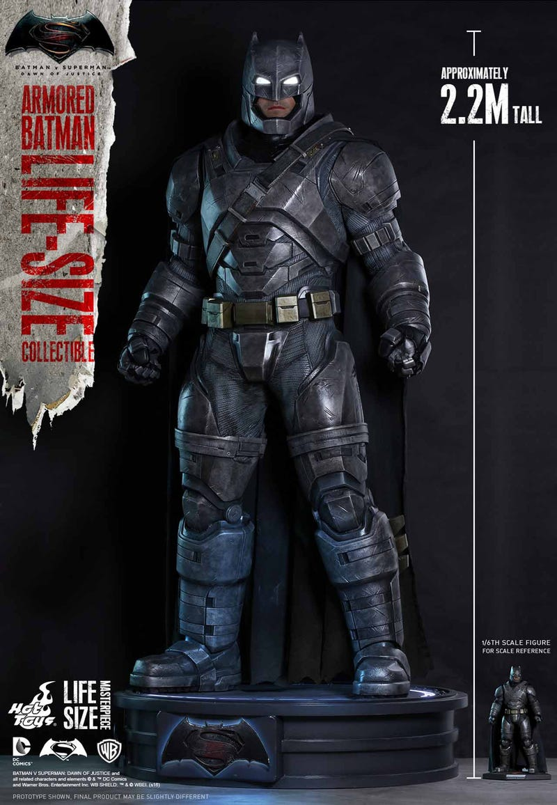 Good God, Hot Toys Is Doing Life-Size Figures, Starting with BvS' Armored Batman