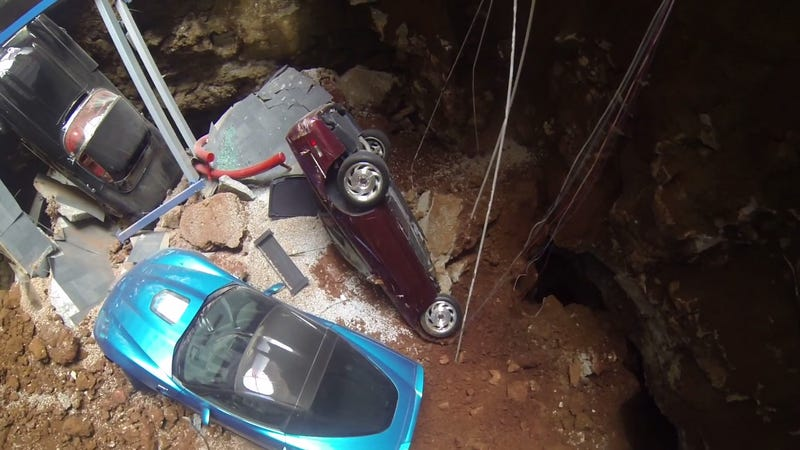 The Most Heartbreaking Shot Yet Of The Corvette Museum Sinkhole