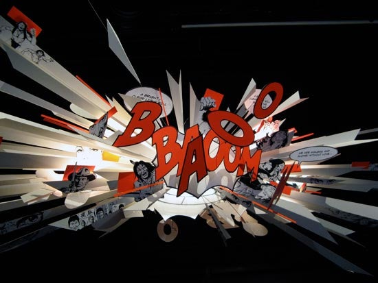 BANG BOOM Comic Book Lamp Portrays Perpetual Explosion