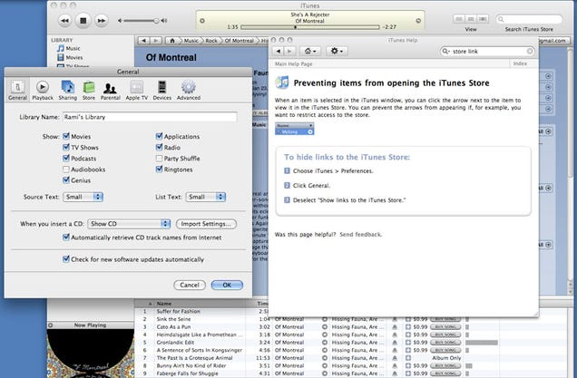 iTunes 8 Disables Disabling Store Links, Here's the Fix