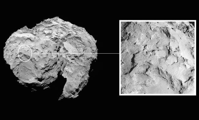 The Landing Site On Comet Churymov-Gerasimenko Has Been Selected