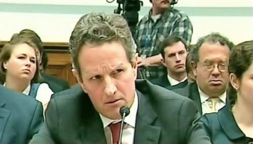 Everybody Is Yelling at Tim Geithner