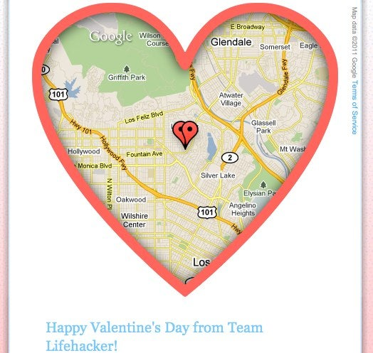 Map Your Valentine with Google Maps