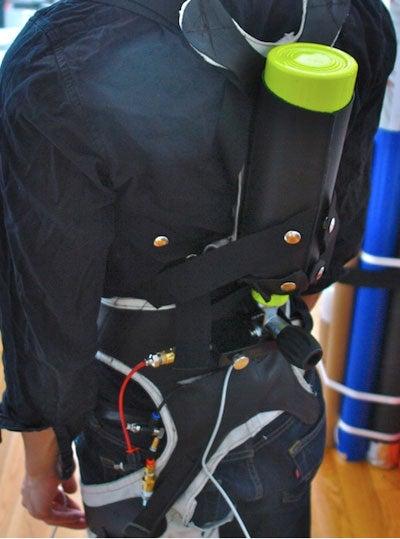 Soft Pneumatic Exo-Skeleton Runs on Air, Electronics