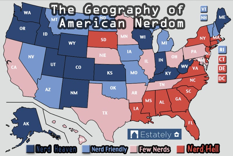 What Are The Nerdiest States In America?