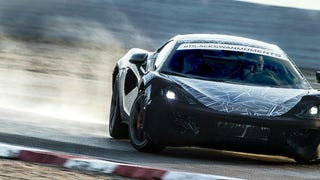 Here is McLaren's new entry level model, the Sports Series, doing a bit of that drifting that the kids love so much.