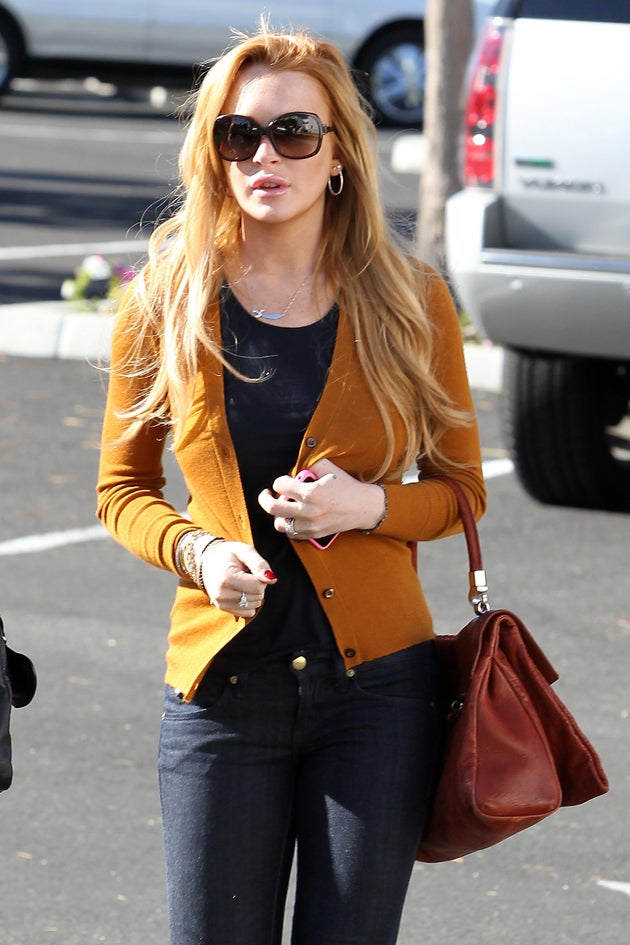 Lindsay Lohan Spends Thanksgiving With Her Dad
