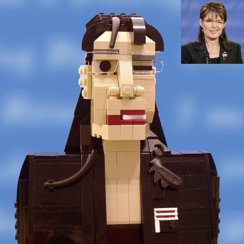 "Lego Sarah Palin Winks, Says ""Pew Pew"" to Lego Bridges to Nowhere, Just Like the Real One"