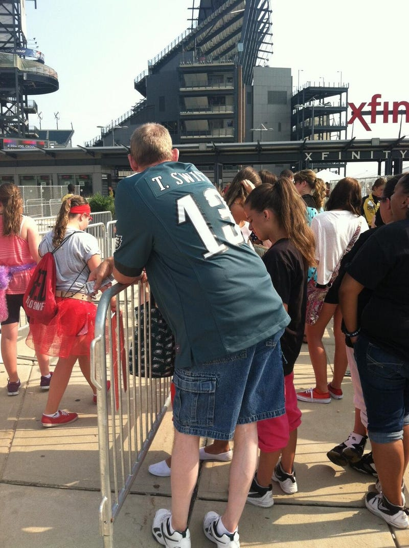 Here's A Guy In A Custom Taylor Swift Eagles Jersey