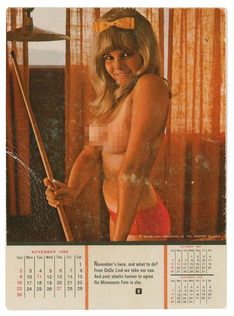 Own the Playboy pin-up that Apollo 12 took to the Moon