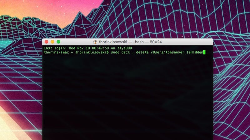 Create Hidden Administrative Accounts in OS X from the Terminal