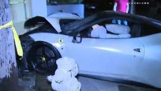 $250,000 Ferrari Totaled After Apparent Street Race With Porsche