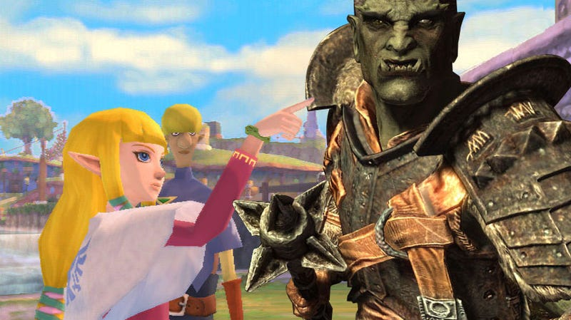 What did the Skyrim Gamer Say to the Skyward Sword Gamer?