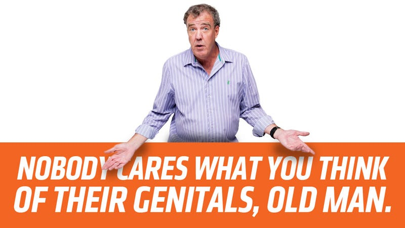 Dear Jeremy Clarkson: Nobody Gives A Shit What You Think Of Transgender People