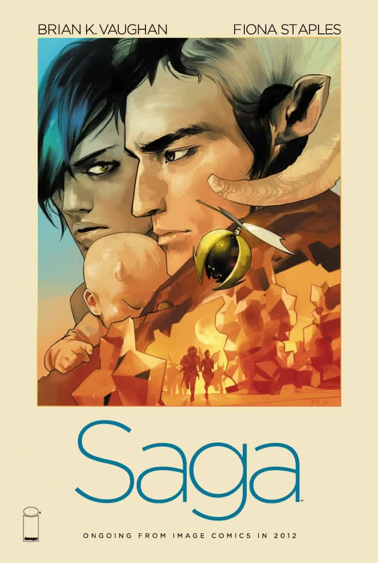 Brian K. Vaughan comes back to comics with the monthly scifi title Saga