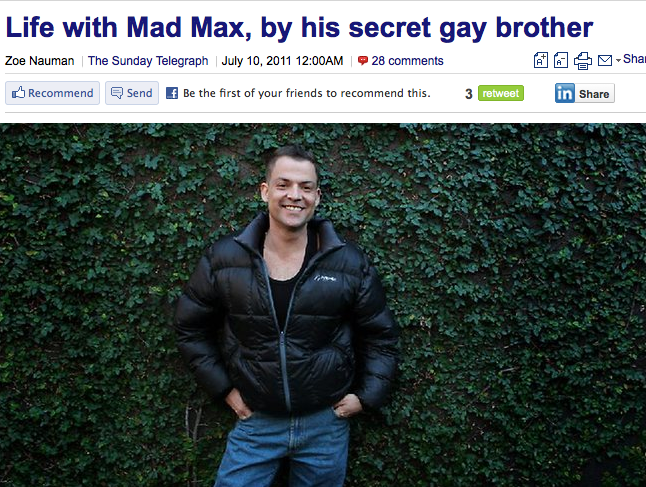 Mel Gibson's Gay Brother Comes To His Defense
