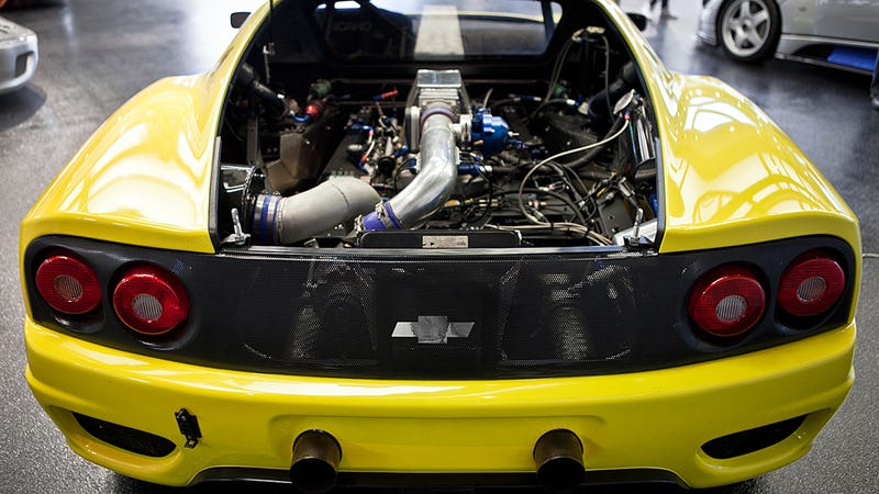 Awesome 1000 horsepower Chevy powered Ferrari 360 is awesome