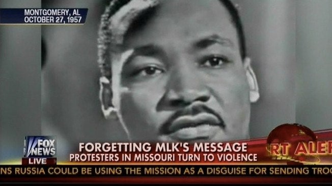 "Fox News Bashes Ferguson Protesters for ""Forgetting MLK's Message"""