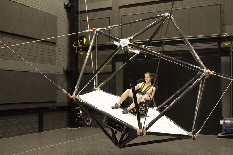 This High-Speed Simulator Suspended From Cables Looks Like So Much Fun