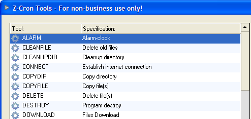 Z-Cron Automates Windows Tasks