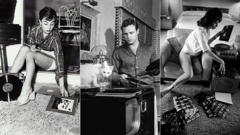 Celebrities (and Chewbacca) Fondling Their Vinyl Collections