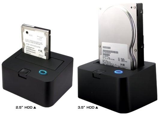 HDD USB Dock Plugs Bare SATA Drives Like NES Cartridges