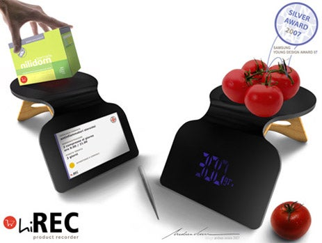 hiREC Chef's Companion Design Weighs, Scans Food