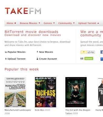Take.fm Is an Extremely Polished Movie Torrent Indexer