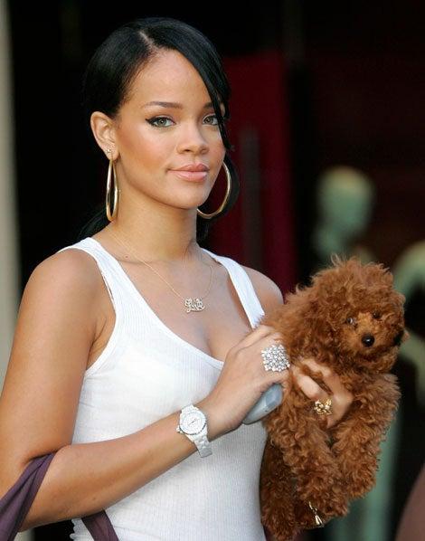 Rihanna's Pleated Pants, Adorable Shopping Buddy