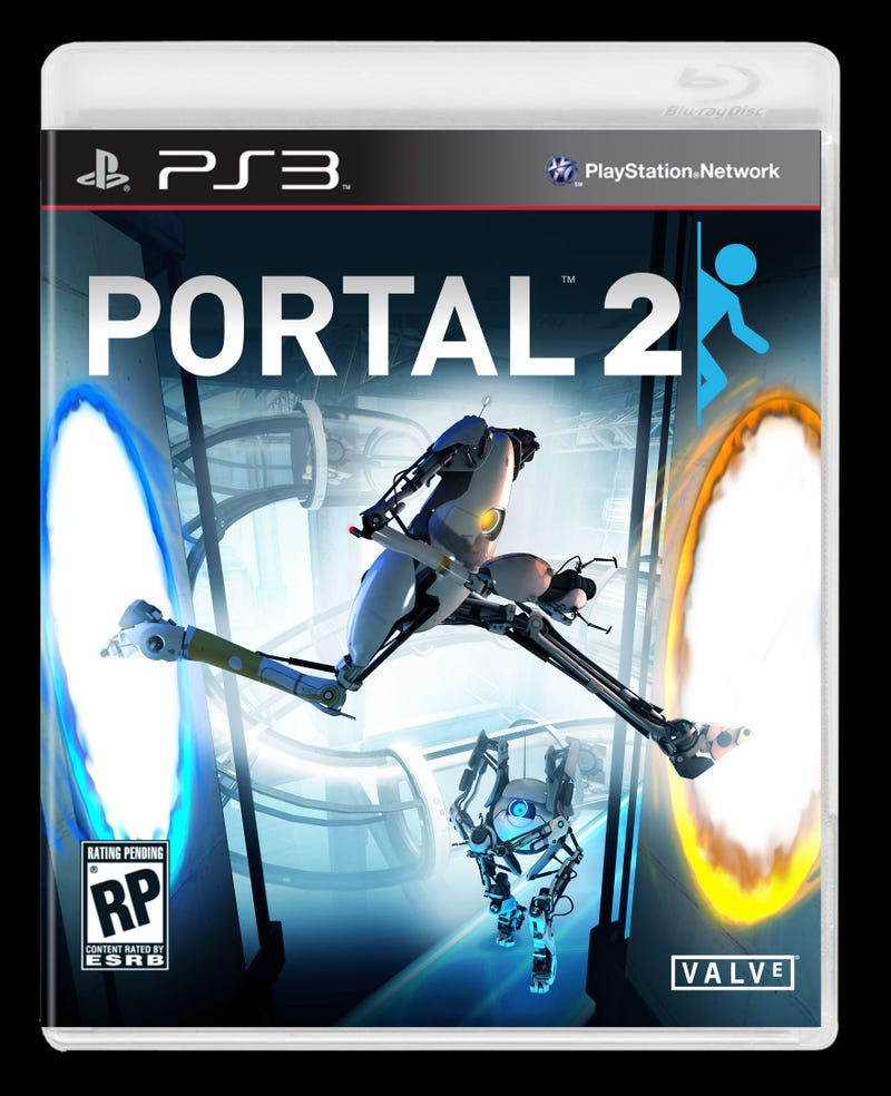Portal 2's Robots Are Trying To Escape Its Box Art