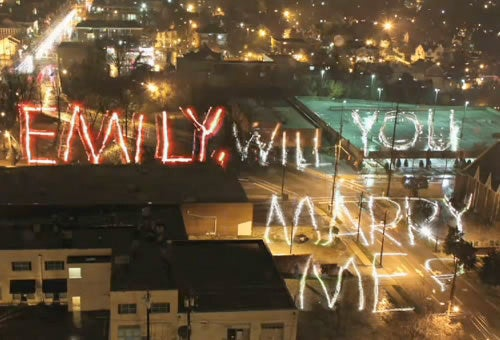 Light Writing Proposal Created With Two Canon 7Ds, a Spotlight and a Lot of Love