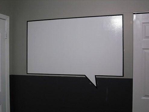 DIY Magnetic Whiteboard Speech Bubble