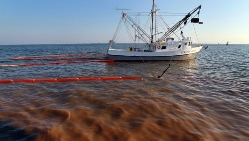 Oil Slick Reaches Shore In Louisiana