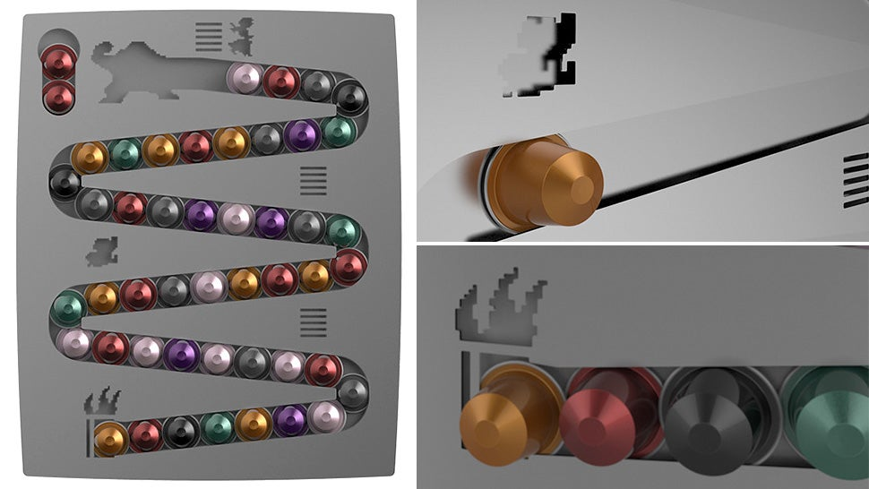an awesome donkey kong rack for your terrible coffee capsules. Black Bedroom Furniture Sets. Home Design Ideas