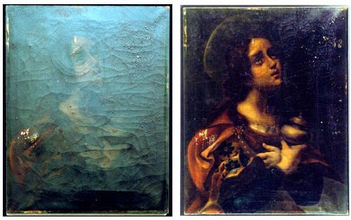 "NASA restores damaged paintings using ""atomic oxygen"""