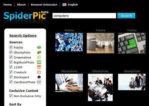 SpiderPic Comparison Shops Stock Photos