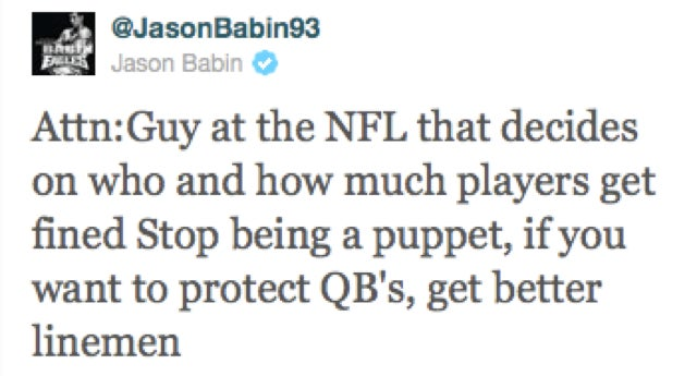 Eagles Lineman Jason Babin Does His Best Complainin' James Harrison Impression