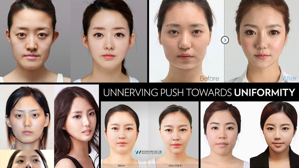 Can t stop looking at these south korean women who ve had plastic