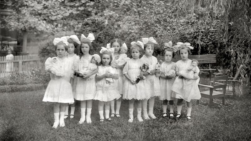 Large Hair Bows Were Required For Guests At Dorothy's Doll Party
