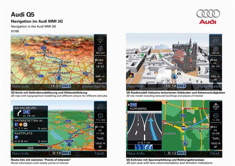 Audi Drops New MMI Technology To Challenge Ford's Grip On Nav Supremacy