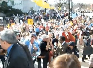 Tea Party Racists Spitting on Congressman, the Video
