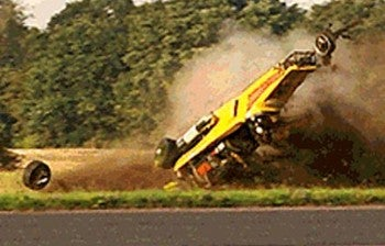 Danger at 288 mph: Richard Hammond Crash Pics Released