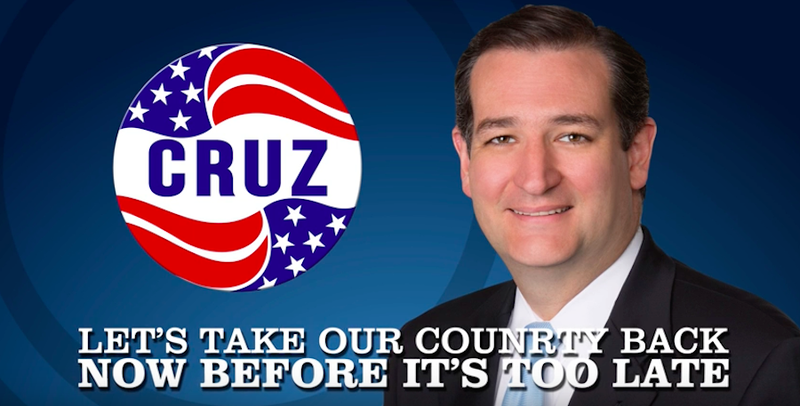 "Ted Cruz Super PAC Releases New Ad That Misspells the Word ""Country"""