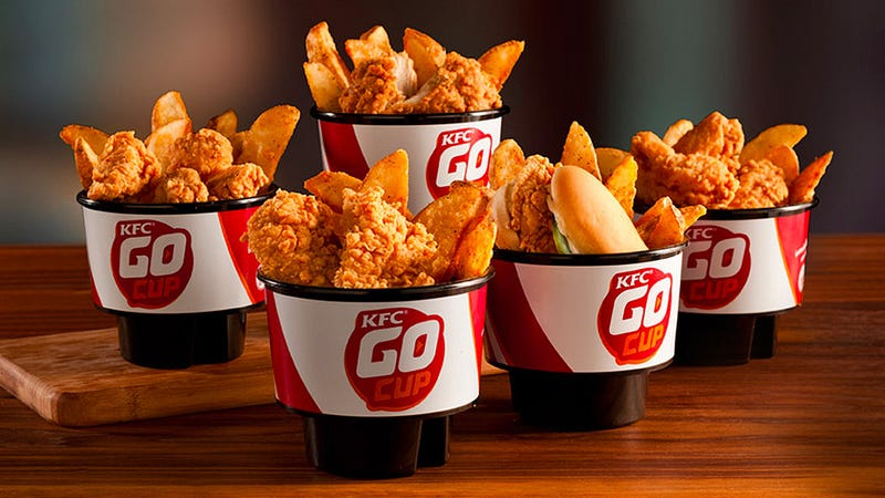 KFC Spent Two Years Making a Take-Out Container That Fits Cupholders
