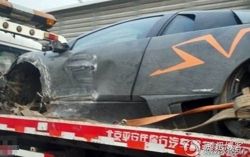 "Lamborghini Murcielago ""China Edition"" Crashed In China"