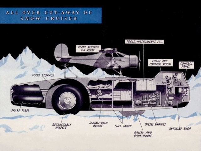 Giant Antarctic Snowmobile Can Carry Entire Planes, Made to Combat Nazis