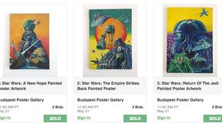 Öldöklő küzdelemben kelt el 9,5 millióért Helényi Star Wars-trilógiája