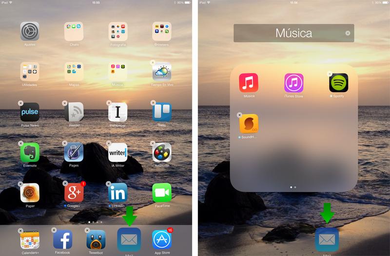 Deshazte de las aplicaciones nativas de iOS 7 con este truco