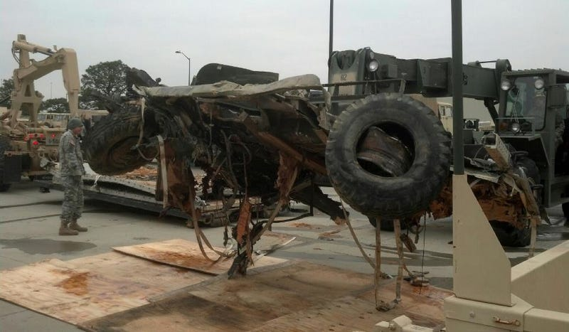 What Happened To This Flattened Truck?